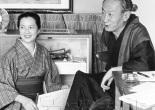 Ōoka Shōhei y su esposa Harue.