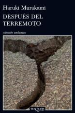 Después del terremoto (Tusquets, 2014)