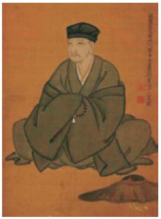 Retrato de Matsuo Bashō por Ogawa Haritsu