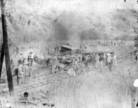 Accidente de tren en Dome Rock en 1898