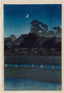 Nagare Kuruwa, Kanazawa (Kawase Hasui, 1920)